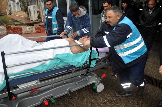 İşçi servisi kaza yaptı