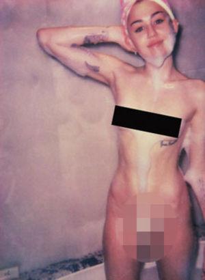 Miley Cyrus bu kez abarttı
