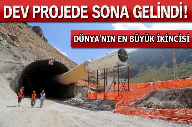 Türkiye'nin en uzun tüneli...