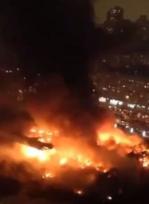 Moskova'da korkutan yangın!