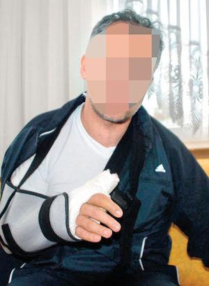 Öğretmenin kolunu kıran babaya 3 yıl