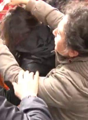 Taksim'de korku dolu anlar!