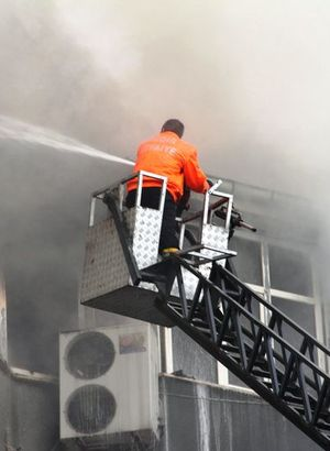 Iğdır Polis Evi'nde yangın