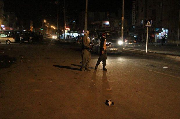 Şırnak'ın Silopi İlçesi'nde izinsiz gösteride olaylar çıktı