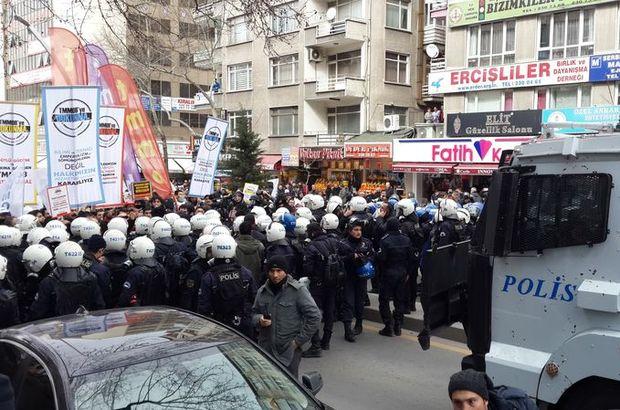 Ankara'da TMMOB üyeleri ile polis arasında arbede çıktı