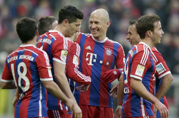 Bayern Münih gol olup yağdı