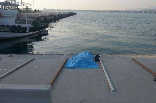 İzmir Alsancak denizde erkek cesedi bulundu