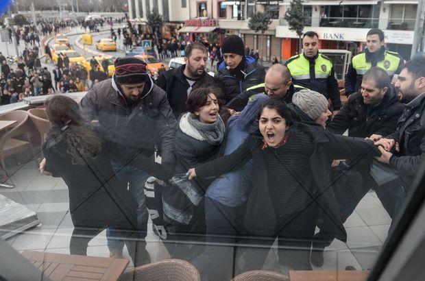 Taksim'de Özgecan Aslan eylemi