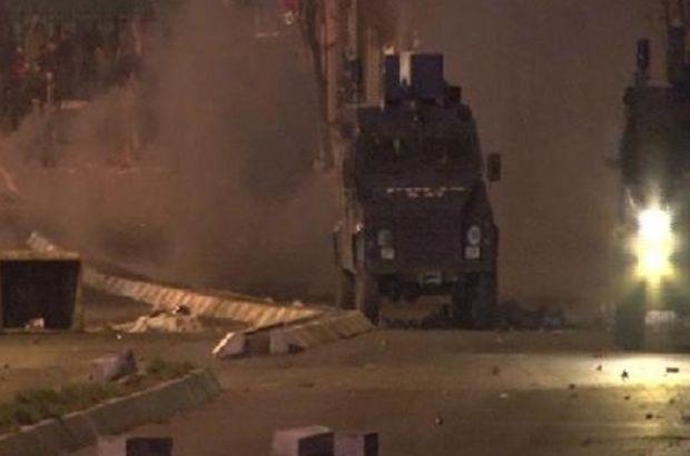 Dolapdere'de eylemcilere polis izin vermedi  İstanbul, Beyoğlu, Dolapdere