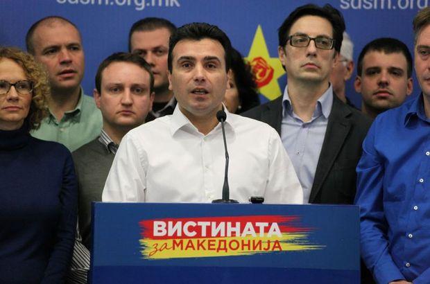 Yasa dışı dinleme iddiaları belgeleri toplumla paylaşıldı Makedonya, Makedonya Sosyal Demokratlar Birliği Genel Başkanı Zoran Zaev