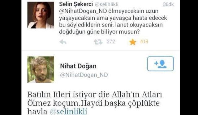 Nihat Doğan'ın  Özgecan Aslan'ın vahşice katledilmesinin ardından yazdıkları çıldırttı.'Nihat varsa Survivor boykot'hashtag'leri açıldı.