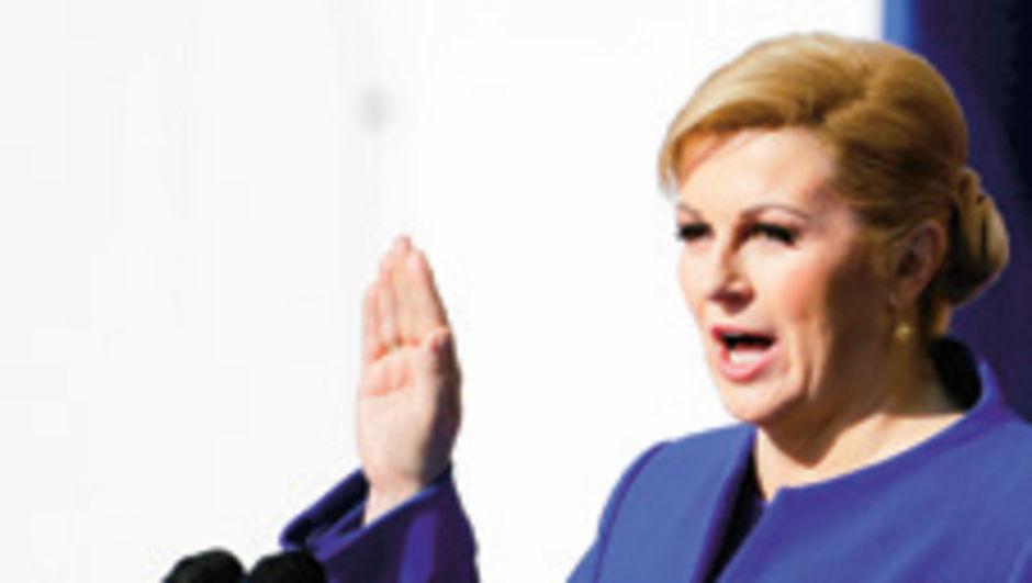Hırvatistan'da ilk kadın Cumhurbaşkanı yemin etti