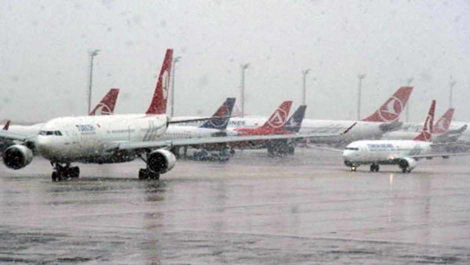 THY 88 seferini kar yağışı yüzünden iptal etti THY, İstanbul
