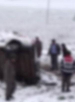 Reyhanlı'da öğrenci servisi devrildi: 8 yaralı