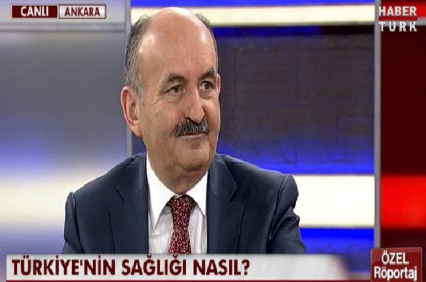 Sağlık Bakanı Mehmet Müezzinoğlu Habertürk TV Ankara Temsilcisi Veyis Ateş'e konuştu
