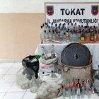 Tokat'ta sahte rakı operasyonu