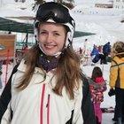 Yasemin Allen sevgilisiyle kayak yaptı