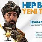 AK Parti milletvekili aday adayı Osman Yavuz'un afişi