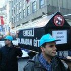 Taksim'de tabutlu eylem!