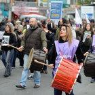 Kadıköy'de kadına şiddete hayır yürüyüşü