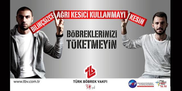 Türk Böbrek Vakfı tarafından Dünya Böbrek Günü için bilinçsiz ağrı kesici kullanımına dikkat çekildi