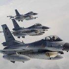 F-16 uçakları Süleyman Şah Türbesi bölgesinde gözetleme yapıyor