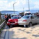 Bodrum'da yola dökülen yağ nedeniyle 10 araç kaza yaptı