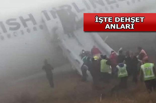 THY uçağı iniş yaparken pistten çıktı