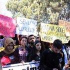 Yozgat'ta karşıt görüşlü öğrenciler basın açıklamasını engellemeye çalışınca arbede yaşandı