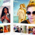 Selfie'de yeni moda sanat selfie'si!
