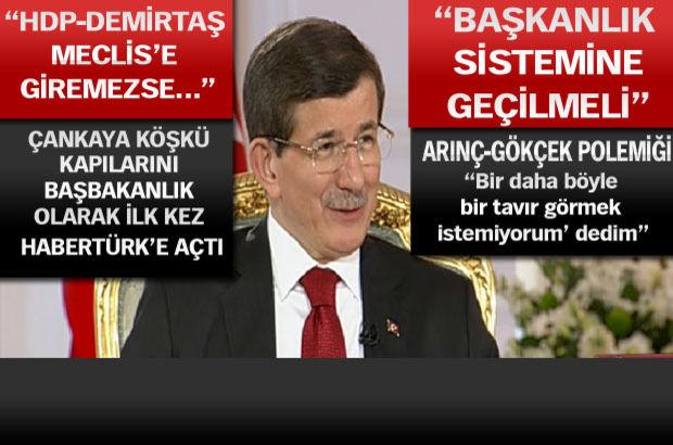 Başbakan Davutoğlu'ndan canlı yayında flaş açıklamalar