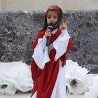 5 yaşındaki Belinay Demir hem ağladı hem ağlattı