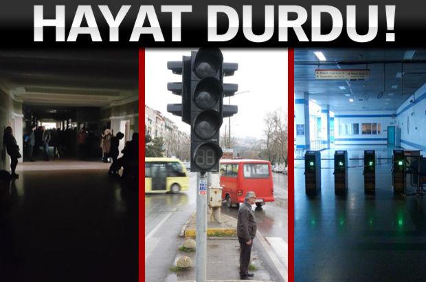 İşte Türkiye'den elektrik kesintisi manzaraları!
