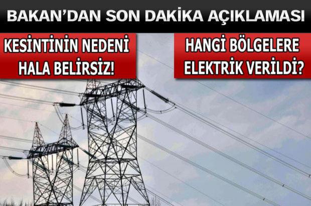 İşte elektrik kesintisinde son durum!