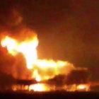 Meksika'da petrol platformunda yangın