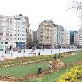 Taksim'de çalışma başladı
