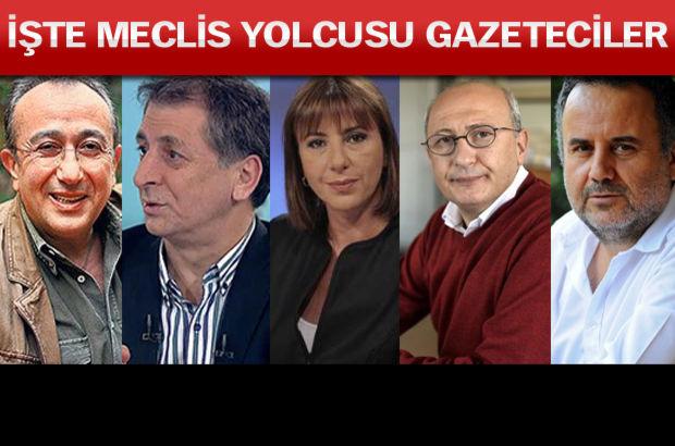 Partilerin aday listelerinde çok sayıda gazeteci de yer alıyor