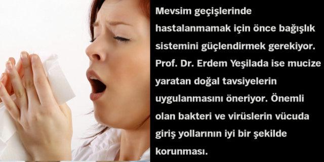 Prof. Dr. Erdem Yeşilada, bağışıklık sistemini güçlendirmede etkili olan bitki çayları ve özelliklerini sıraladı