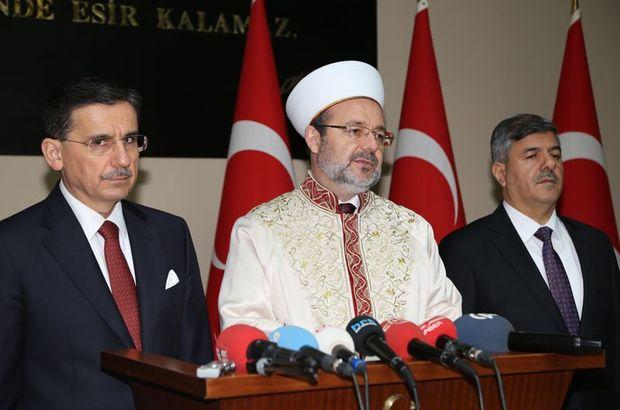 Diyanet İşleri Başkanı Mehmet Görmez Hatay'daki Kutlu Doğum Haftası'nda konuştu