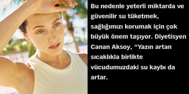 Uzman Diyetisyen Canan Aksoy, su içmenin insan sağlığı açısından faydalarını anlattı