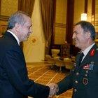 Cumhurbaşkanı Erdoğan, Kara Kuvvetleri Komutanı'nı kabul etti
