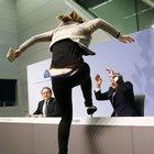 Mario Draghi protesto edildi!