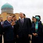 Erdoğan'ın Kazakistan'daki müze ziyaretinde ilginç diyalog
