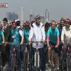 Cumhurbaşkanı Erdoğan bisiklet kullandı