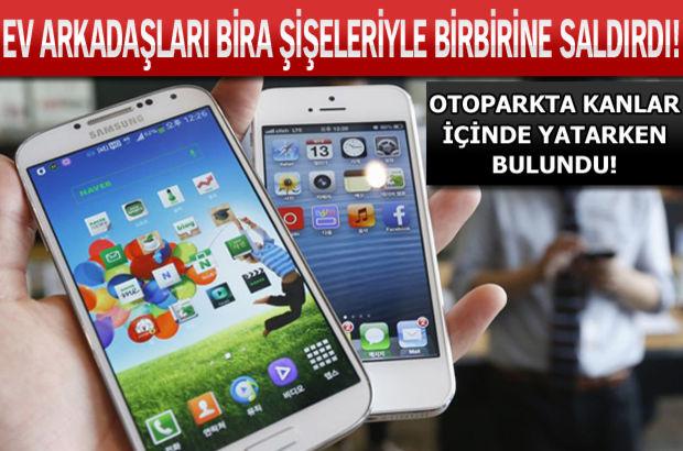 Androıd-ıPhone tartışması kanlı bitti!
