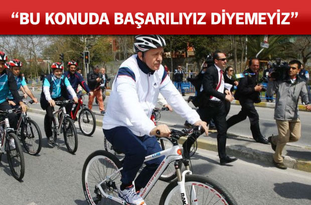 Cumhurbaşkanı Erdoğan pedal çevirdi