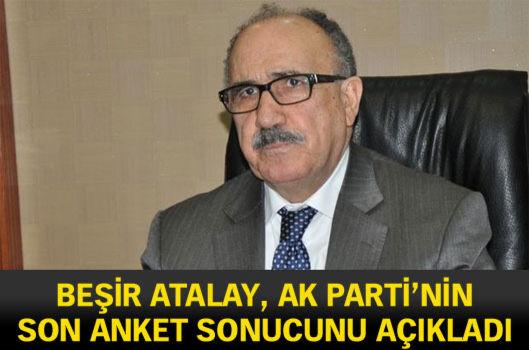 Beşir Atalay, AK Parti'nin son anket sonucunu açıkladı