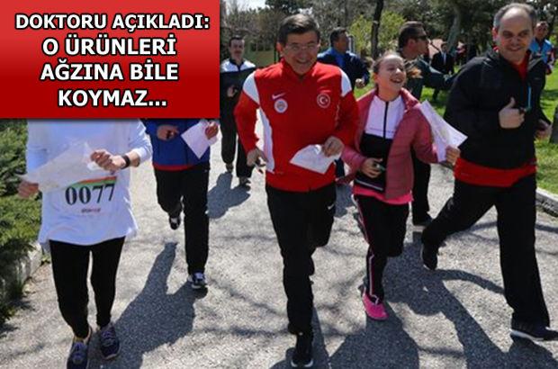 Başbakan sporu aksatmıyor, düzenli besleniyor