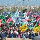Nevruz Parkı'nda 'Hepimiz Yasin Börü'yüz' sloganları