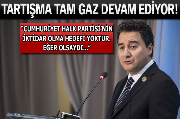 Başbakan Yardımcısı Ali Babacan,Cumhuriyet Halk Partisi,Türkiye